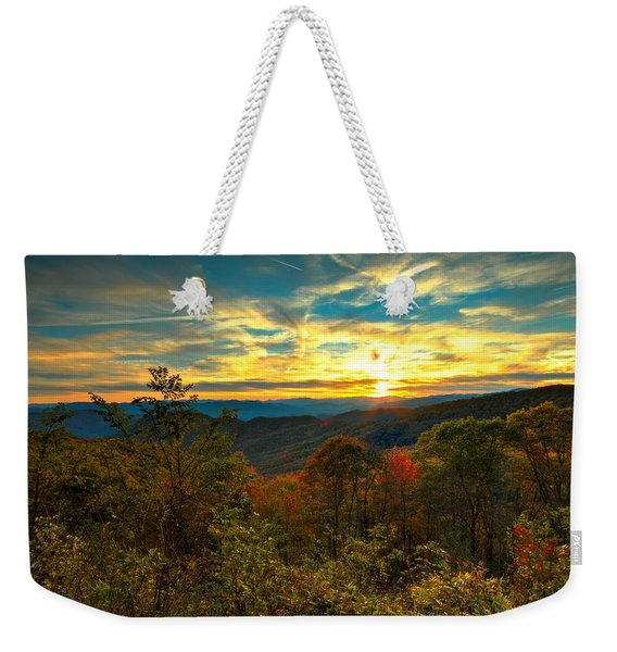 Blue Ridge Sunsets Weekender Tote Bag
