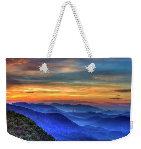 Blue Ridges 2 Pretty Place Chapel View Great Smoky Mountains Art Weekender Tote Bag
