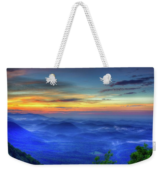 Blue Ridges Pretty Place Chapel Wedding Venue Art  Weekender Tote Bag
