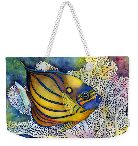 Blue Ring Angelfish Weekender Tote Bag