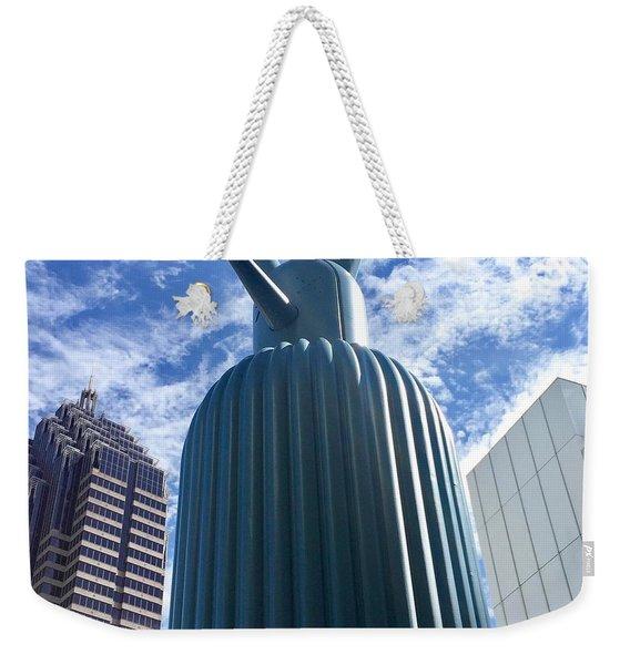 Blue Sculpture Weekender Tote Bag