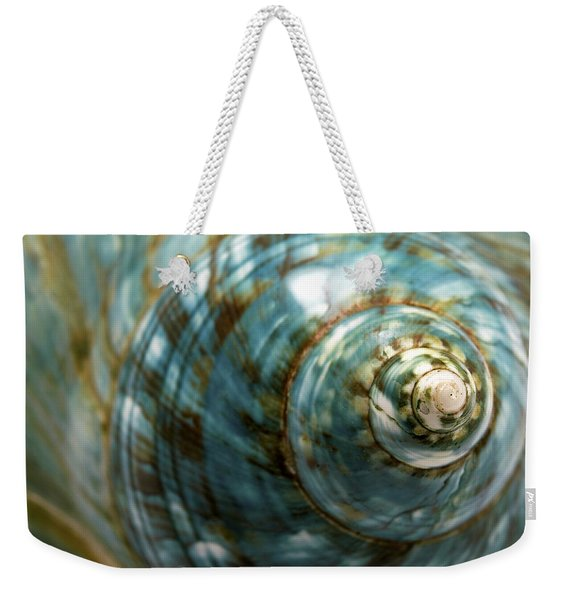 Blue Seashell Weekender Tote Bag