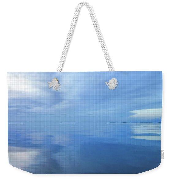 Blue Serenity Weekender Tote Bag