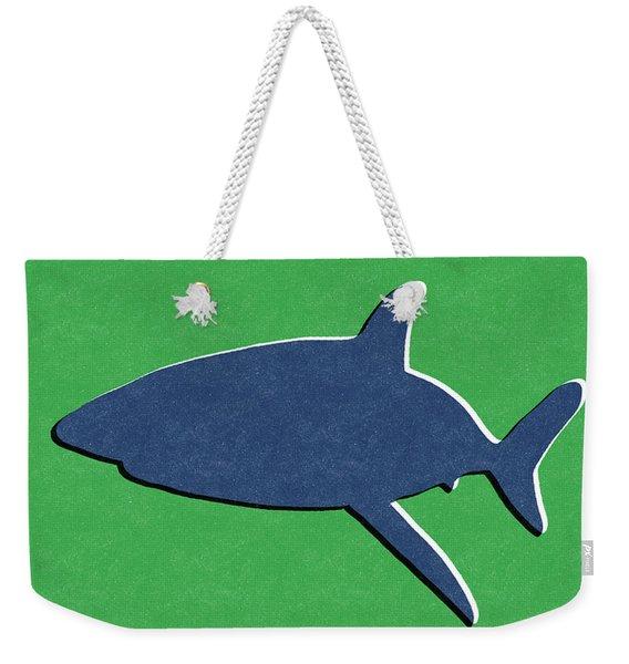 Blue Shark Weekender Tote Bag