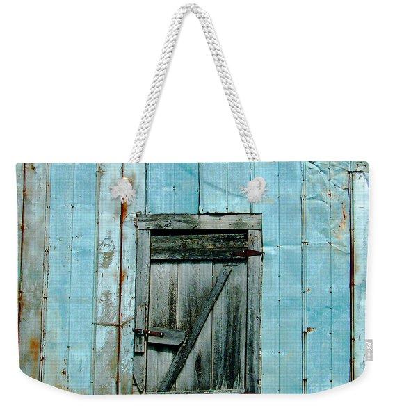 Blue Shed Door  Hwy 61 Mississippi Weekender Tote Bag
