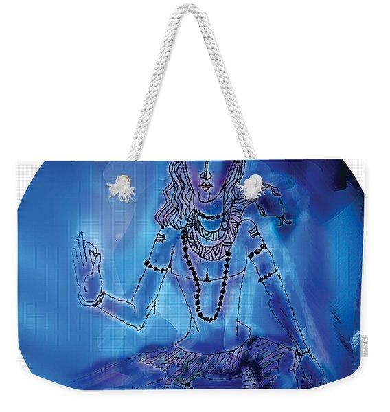 Blue Shiva  Weekender Tote Bag