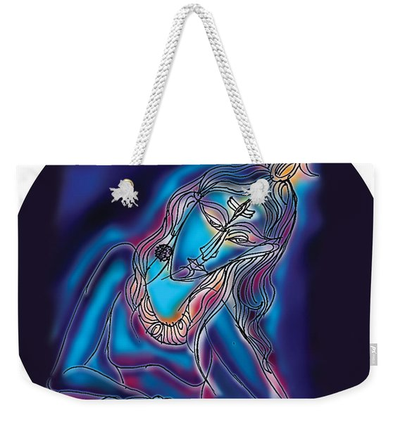 Blue Shiva Light Weekender Tote Bag
