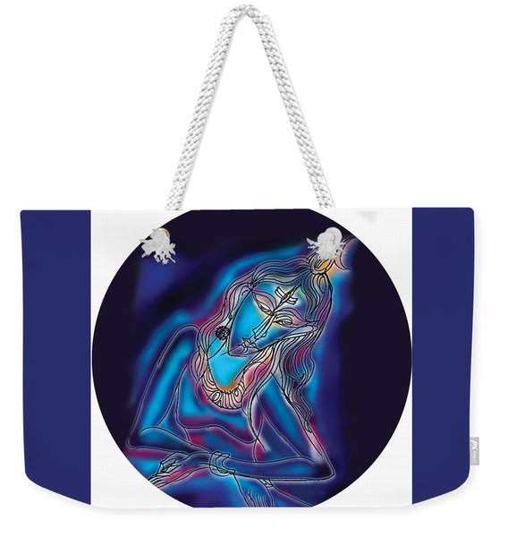 Blue Shiva Light Weekender Tote Bag