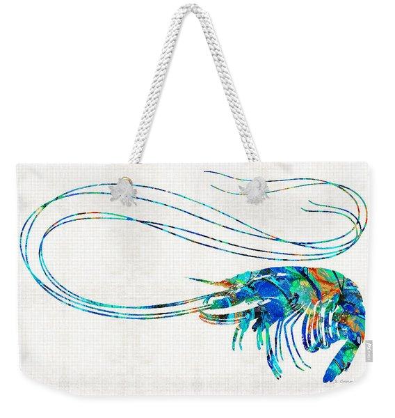 Blue Shrimp Art By Sharon Cummings Weekender Tote Bag