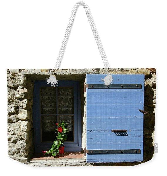 Blue Shutters Weekender Tote Bag