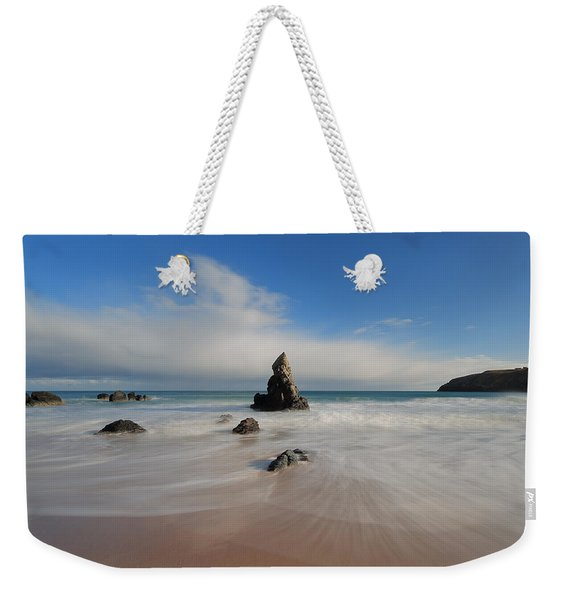 Blue Skies Above Sango Bay Weekender Tote Bag
