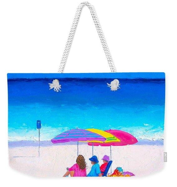 Blue Skies Clear Water Weekender Tote Bag