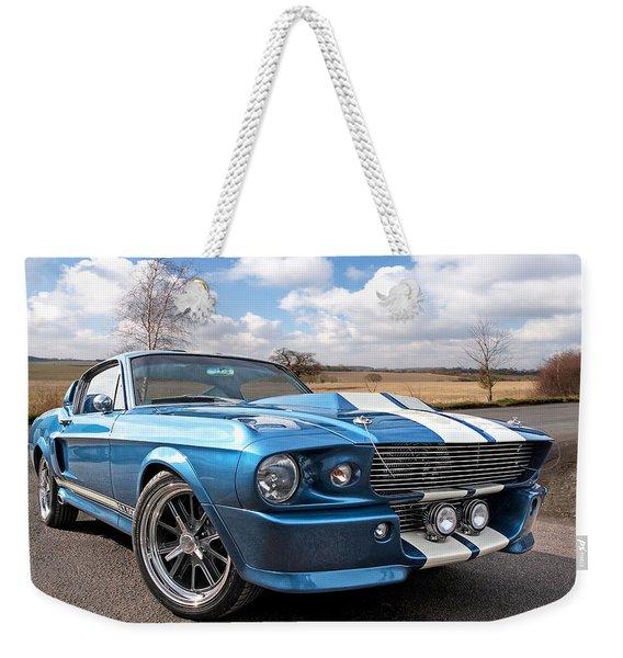 Blue Skies Cruising - 1967 Eleanor Mustang Weekender Tote Bag