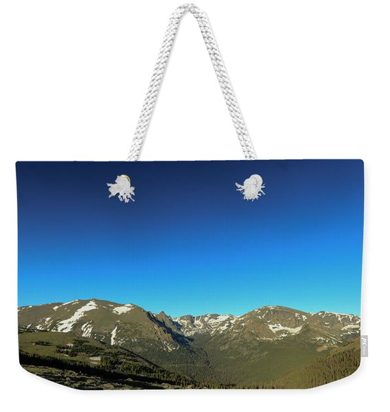 Blue Skys Over The Rockies Weekender Tote Bag