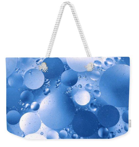 Blue Sphere Flow Weekender Tote Bag