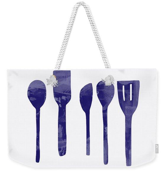 Blue Spoons- Art By Linda Woods Weekender Tote Bag
