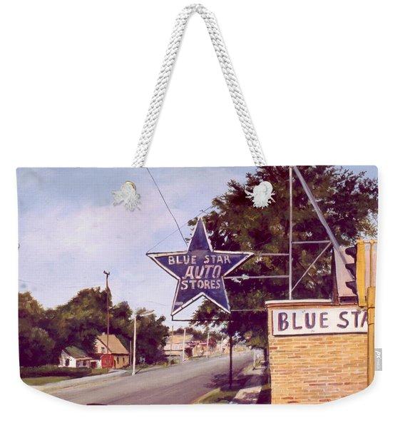 Blue Star Auto Weekender Tote Bag