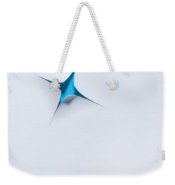 Blue Star On White Weekender Tote Bag
