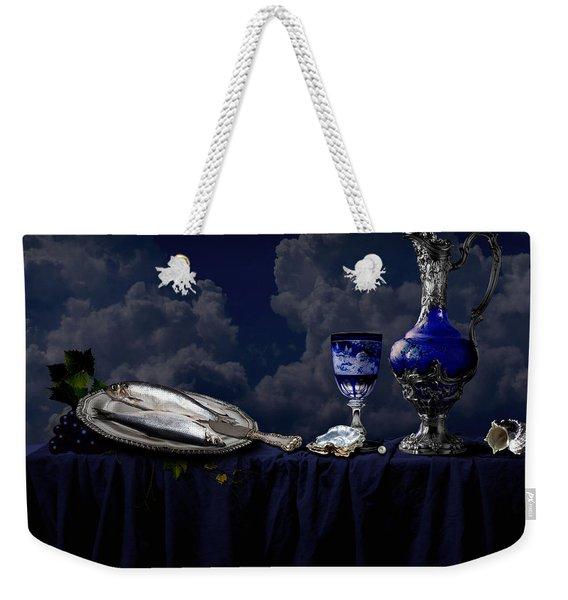 Blue Still Life Weekender Tote Bag