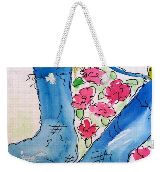 Blue Stockings Weekender Tote Bag