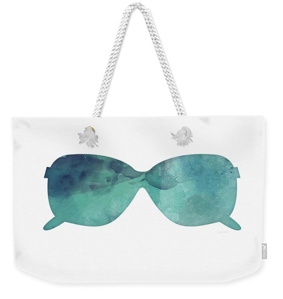 Blue Sunglasses 1- Art By Linda Woods Weekender Tote Bag