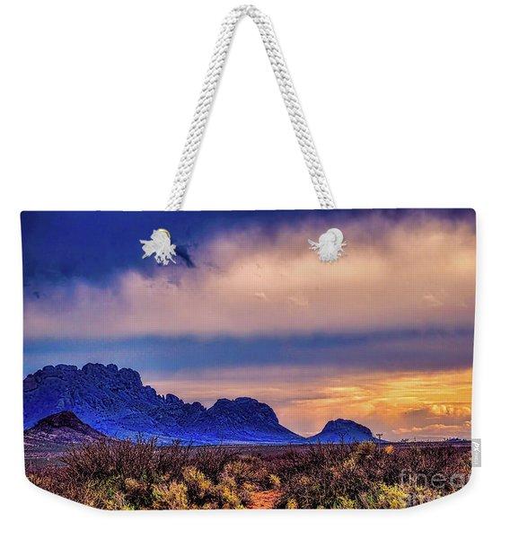 Blue Sunset Nm-az Weekender Tote Bag