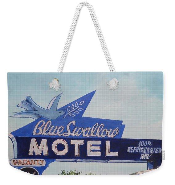 Blue Swallow Weekender Tote Bag