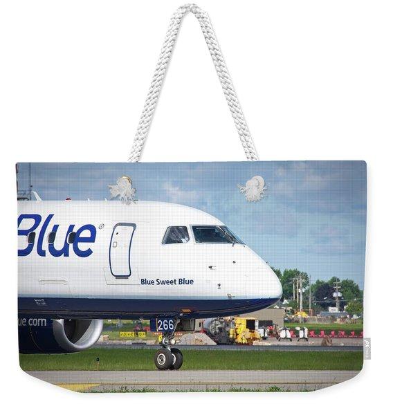 Blue Sweet Blue Weekender Tote Bag