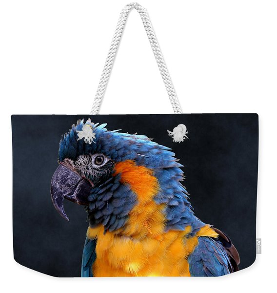 Blue-throated Macaw Profile Weekender Tote Bag