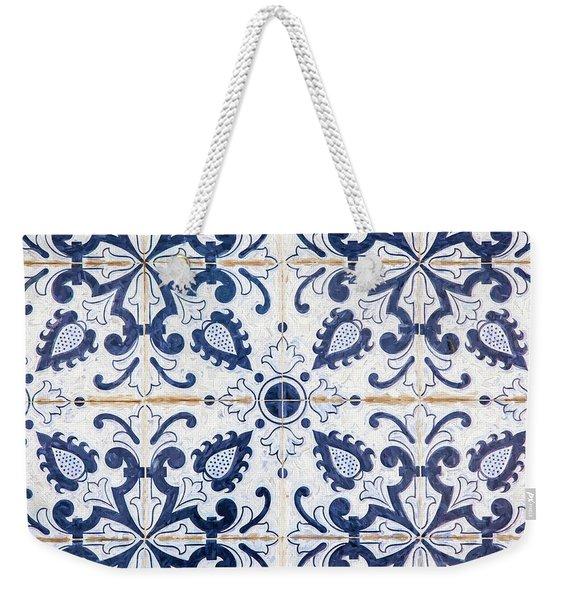 Blue Tile Of Portugal Weekender Tote Bag