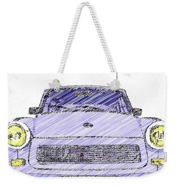 Blue Trabant Weekender Tote Bag