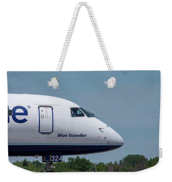 Blue Traveller Weekender Tote Bag