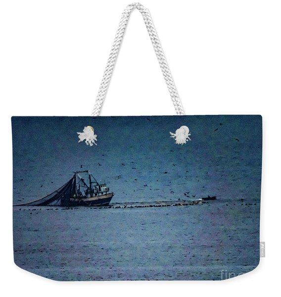 Blue Trawler 1 Weekender Tote Bag