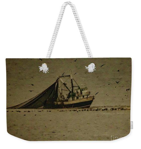 Blue Trawler 2 Weekender Tote Bag