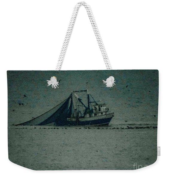 Blue Trawler 3 Weekender Tote Bag