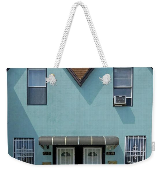 Blue Twins Weekender Tote Bag