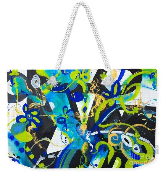 Blue Two Weekender Tote Bag
