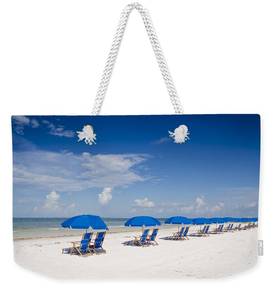 Blue Umbrellas Weekender Tote Bag