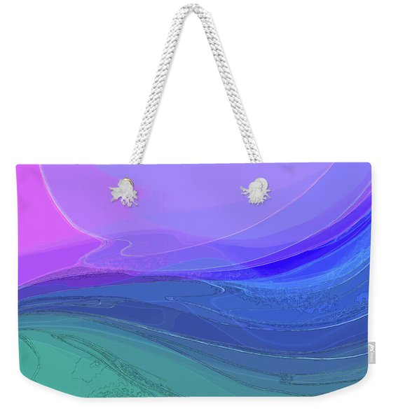 Weekender Tote Bag featuring the digital art Blue Valley by Gina Harrison