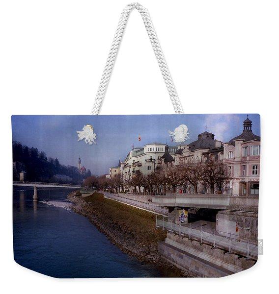 Blue Water Blue Sky Weekender Tote Bag