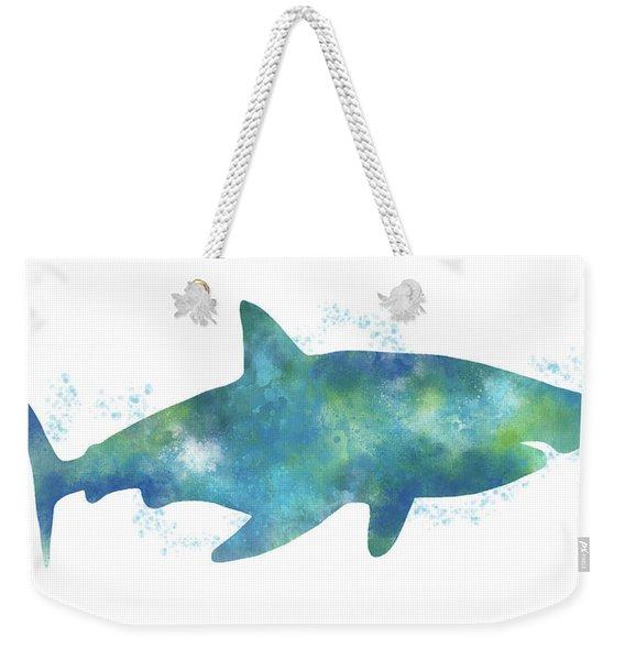 Blue Watercolor Shark- Art By Linda Woods Weekender Tote Bag