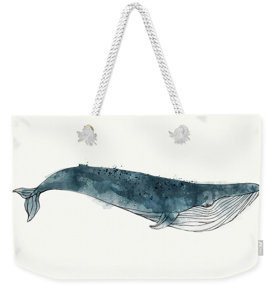 Blue Whale From Whales Chart Weekender Tote Bag