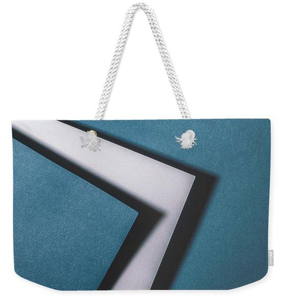 Blue White Blue Weekender Tote Bag