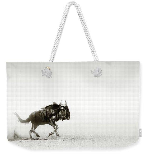 Blue Wildebeest In Desert Weekender Tote Bag