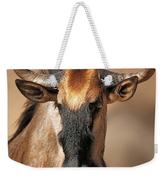 Blue Wildebeest Portrait Weekender Tote Bag