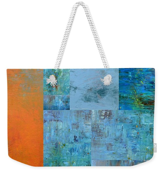 Blue With Orange 2.0 Weekender Tote Bag