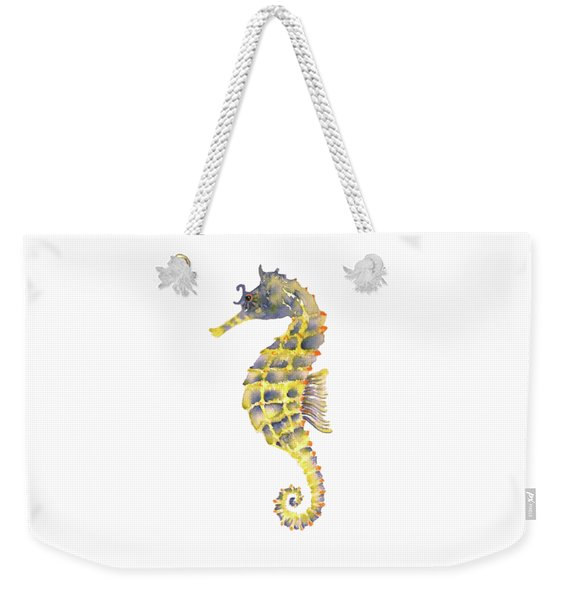 Blue Yellow Seahorse - Square Weekender Tote Bag