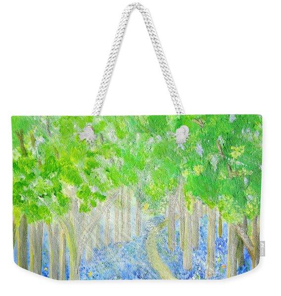 Bluebell Wood With Butterflies Weekender Tote Bag