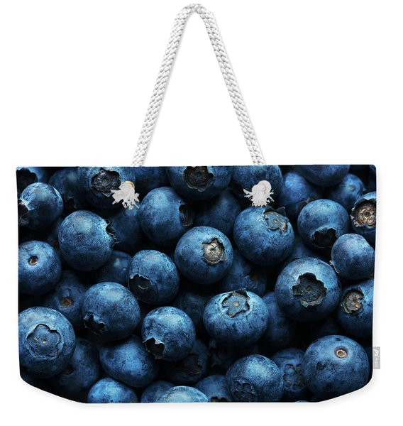 Blueberries Background Close-up Weekender Tote Bag