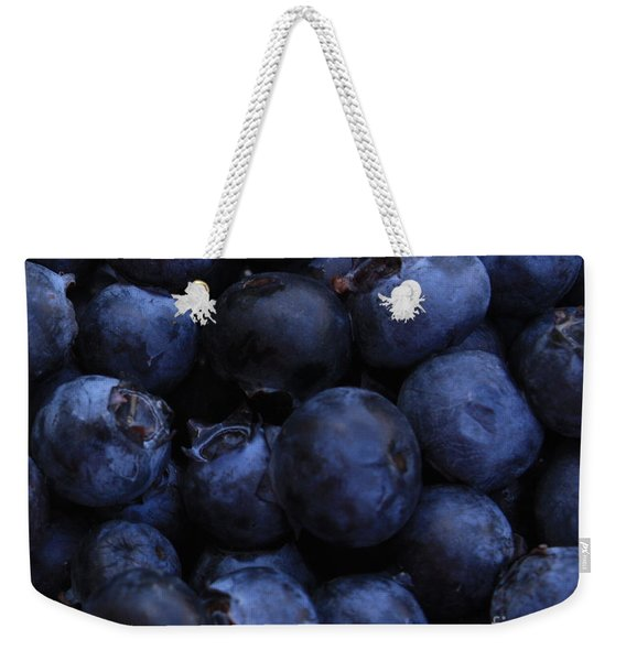 Blueberries Close-up - Horizontal Weekender Tote Bag
